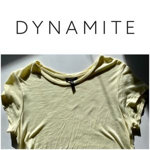 Dynamite Baby Yellow Crop Tee